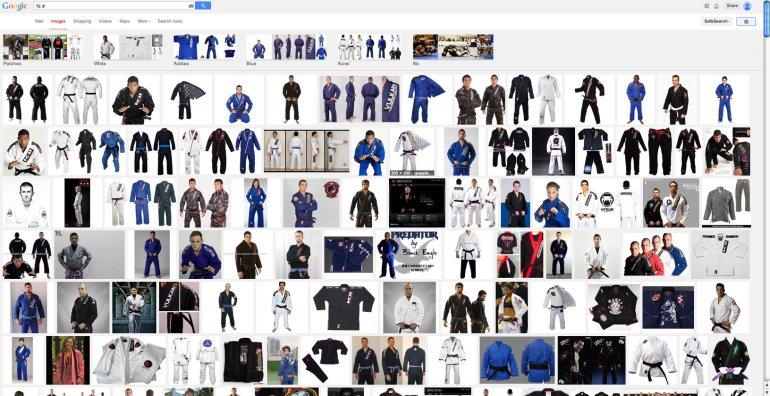 """Google image search, """"BJJ Gi"""""""